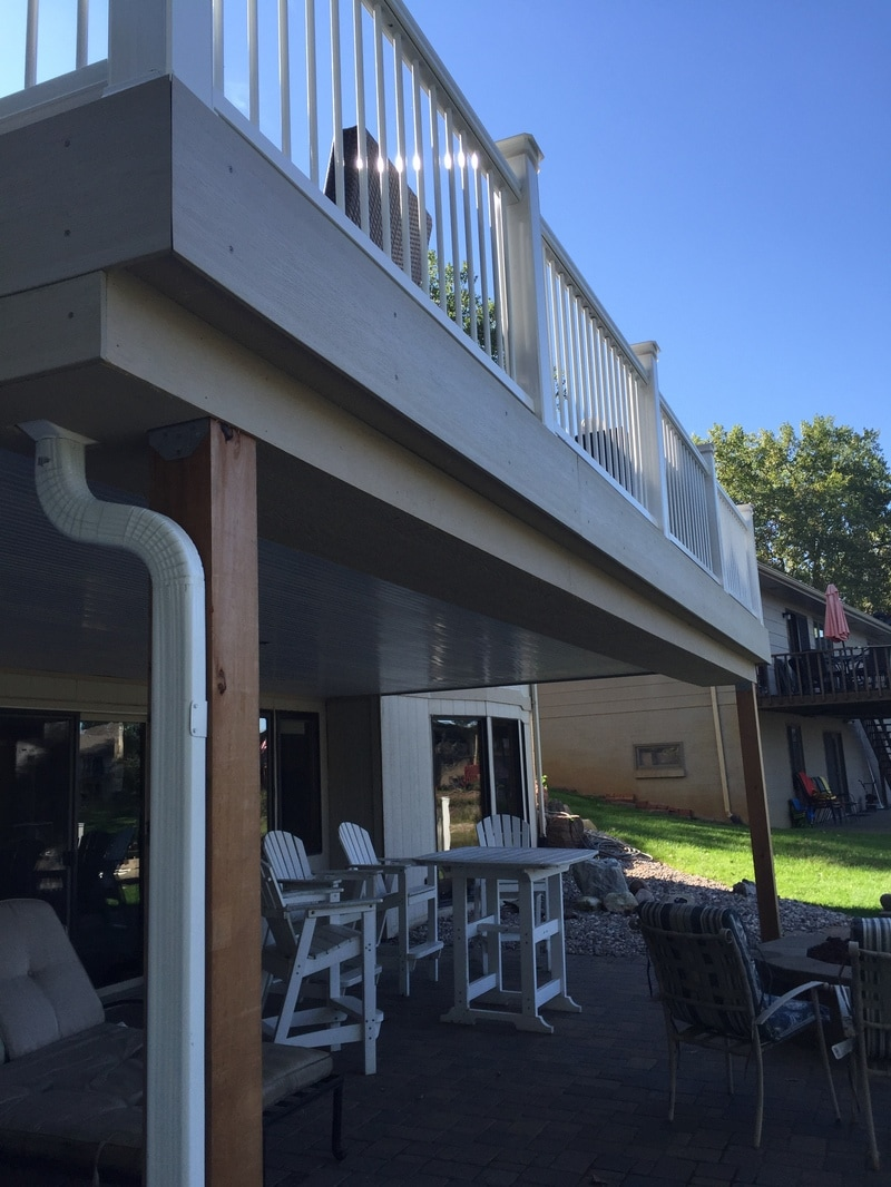Composite Deck Omaha, under deck ceiling